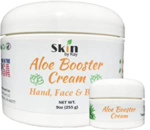 Aloe Vera Cream Face Moisturizer - Organic Shea Butter, Jojoba Oil-Rosacea, Psoriasis Lotion - Eczema Cream (9 oz and 1 Travel)