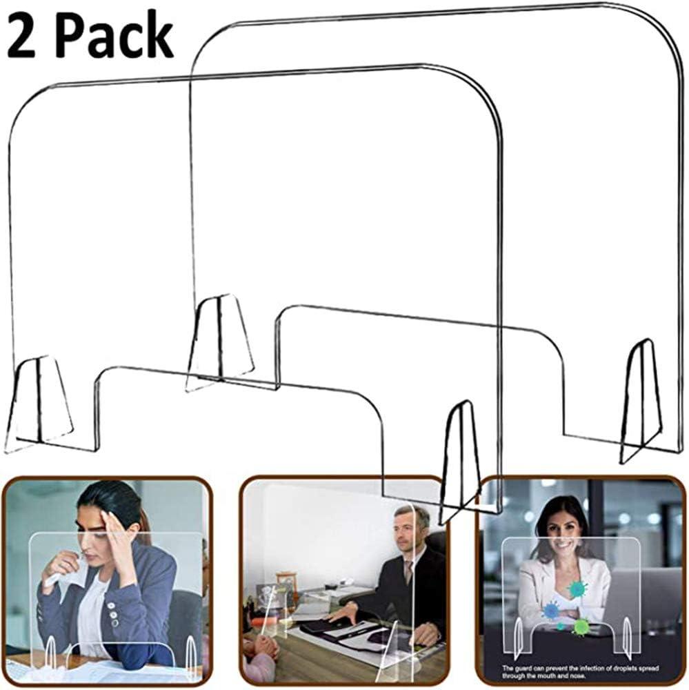 Mampara De Protección Transparente Modelo Belfast Buena Estabilidad 60 X 60Cm para Farmacias Panaderias Estancos Supermercados Alimentación (2Pcs): Amazon.es: Hogar