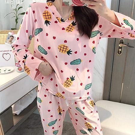 Cálidos Pijamas para Mujer,Rosa Suave Terciopelo con Cuello ...