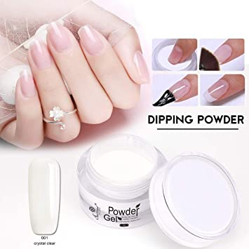 Saviland Dip Powder Nails, Natural Artificial Nail Manicure Without Lamp  Cure(CRYSTAL CLEAR)