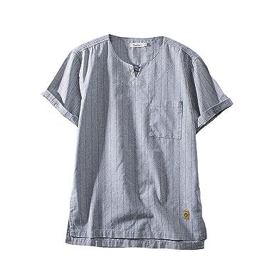 2019 - Camiseta de Manga Corta para Hombre, diseño de Rayas, Color ...