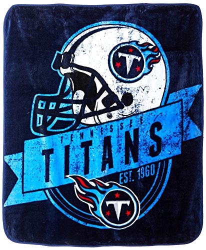 Tennessee Titans Blanket - The Northwest Company Officially Licensed NFL Tennessee Titans Grand Stand Plush Raschel Throw Blanket, 50
