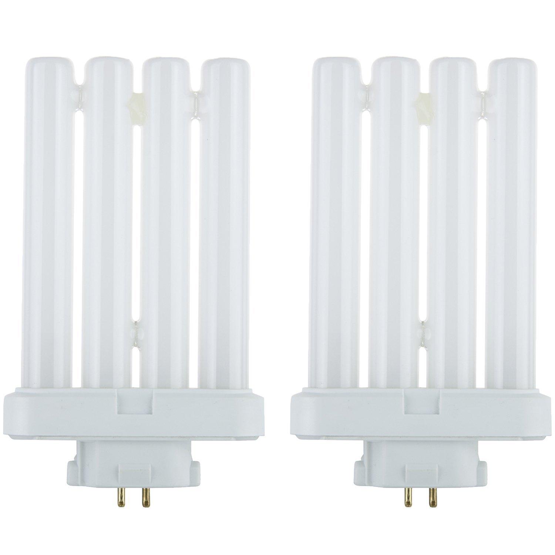 FML Compact Fluorescent 27W Quad Tube Light Bulbs, 6500K Daylight Like Light, GX10Q-4 Base, (2 Pack)