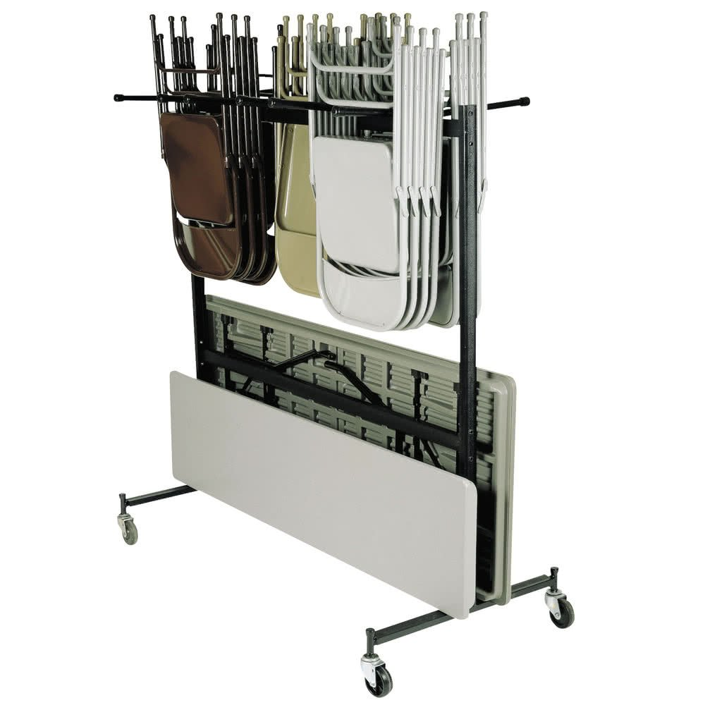 Tabletop king Seating 42-8-60 Folding Chair / Table / Coat Storage and Transport Dolly