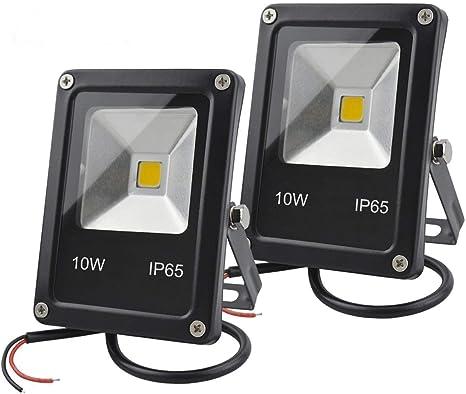 GLW LED Luz de inundación,10W Mini Proyector de Iluminación IP65 ...