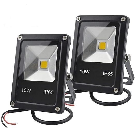 GLW LED Luz de inundación,10W Mini Proyector de Iluminación IP65 Impermeable Foco Exterior,12V DC Luz de la Seguridad del, 900lm, Blanca Cálida Luz de ...