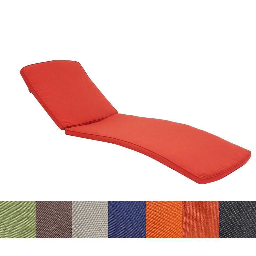 Jeco Inc. CL1-FS030 Chaise Lounger Cushion, 80'' L x 25'' W x 2'' H, Red