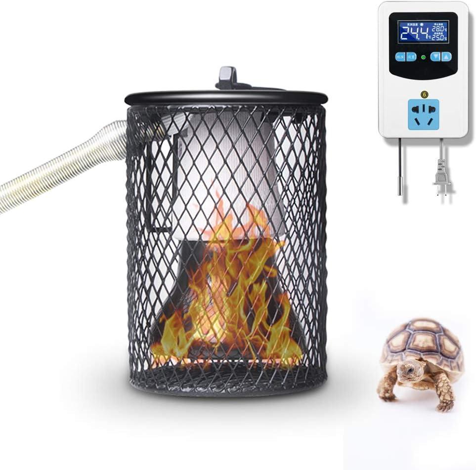 Lámpara de calor de reptiles, Emisor de Cerámica Infrarrojo Lámpara de Bombilla de Luz de Calor con Digital