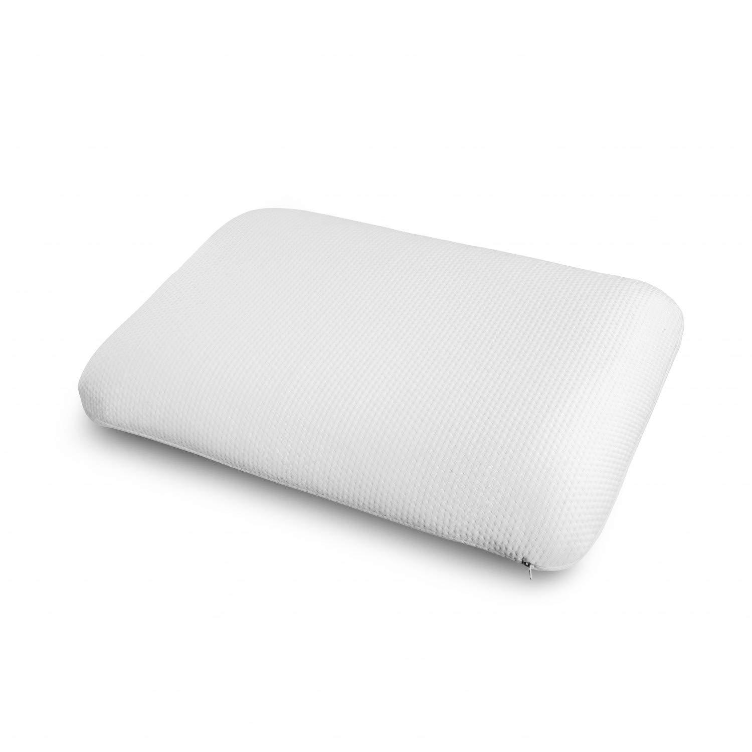Ambesonne Visco Foam Pillow for Stiff Neck, Airing Holes Cooling Soft Pad with Health Benefits Medical Effects Side Back and Stomach Sleepers Washable Polyester Cover, 30'' X 20'' X 5.5'', White