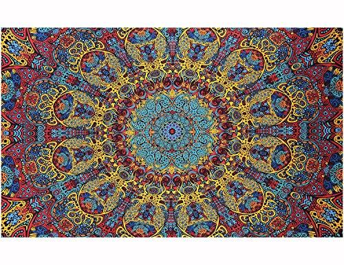 Sunshine Joy Psychedelic Sunburst Tablecloth
