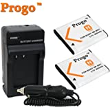 Power Pack: (Two Progo Brand Li-ion Rechargeable Battery and One Pocket Charger With Car Adapter) for Sony NP-BN1 NPBN1. Works For Cyber-shot DSC-T99, DSC-T110, DSC-TX5, DSC-TX7, DSC-TX9, DSC-TX10, DSC-TX100V, DSC-W310, DSC-W320, DSC-W330, DSC-W350, DSC-W360, DSC-W380, DSC-W390, DSC-W510, DSC-W515PS, DSC-W520, DSC-W530, DSC-W550, DSC-W560, DSC-W570, DSC-W580, DSC-WX5, DSC-WX7, DSC-WX9