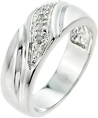 Mens 1//10ct White Gold Diamond Flat Classic Anniversary Band 10K