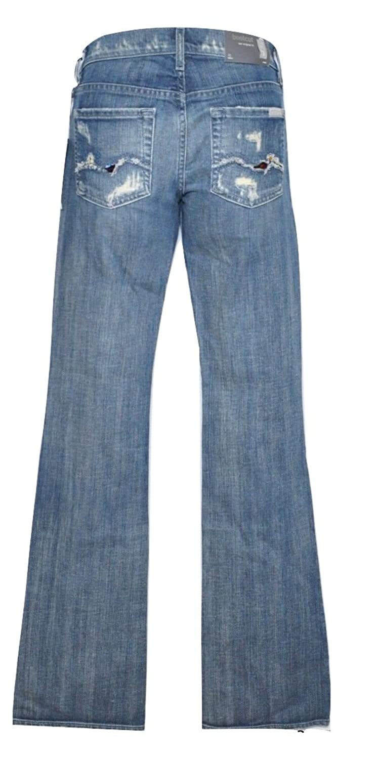7 For All Mankind Bootcut Crystal Jeans Denim Pants Vintage Shore Pine 23