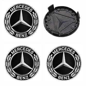 4 x Nuevo 75mm Logo Insignia Emblema Rueda Centro tapacubos Tapas Serie Encajar Mercedes Benz