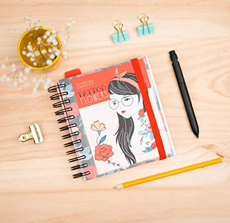 Amazon.com: Tattoo Flowers 2019-2020 - Agenda escolar ...