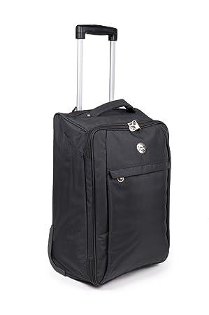 Bolsas de cabina de Easyjet maleta trolley de viaje para la mayoría de las compañías aéreas - equipaje de mano (negro): Amazon.es: Equipaje