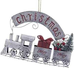 Kurt Adler Christmas Train Metal Ornament