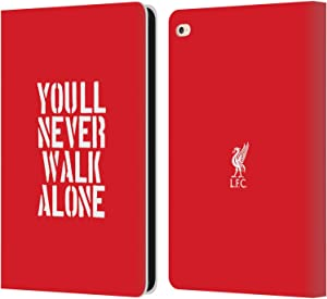 Head Case Designs Officially Licensed Liverpool Football Club Stencil Red Liver Bird YNWA PU Leather Book Wallet Case Cover Compatible with Apple iPad Air 2 (2014)