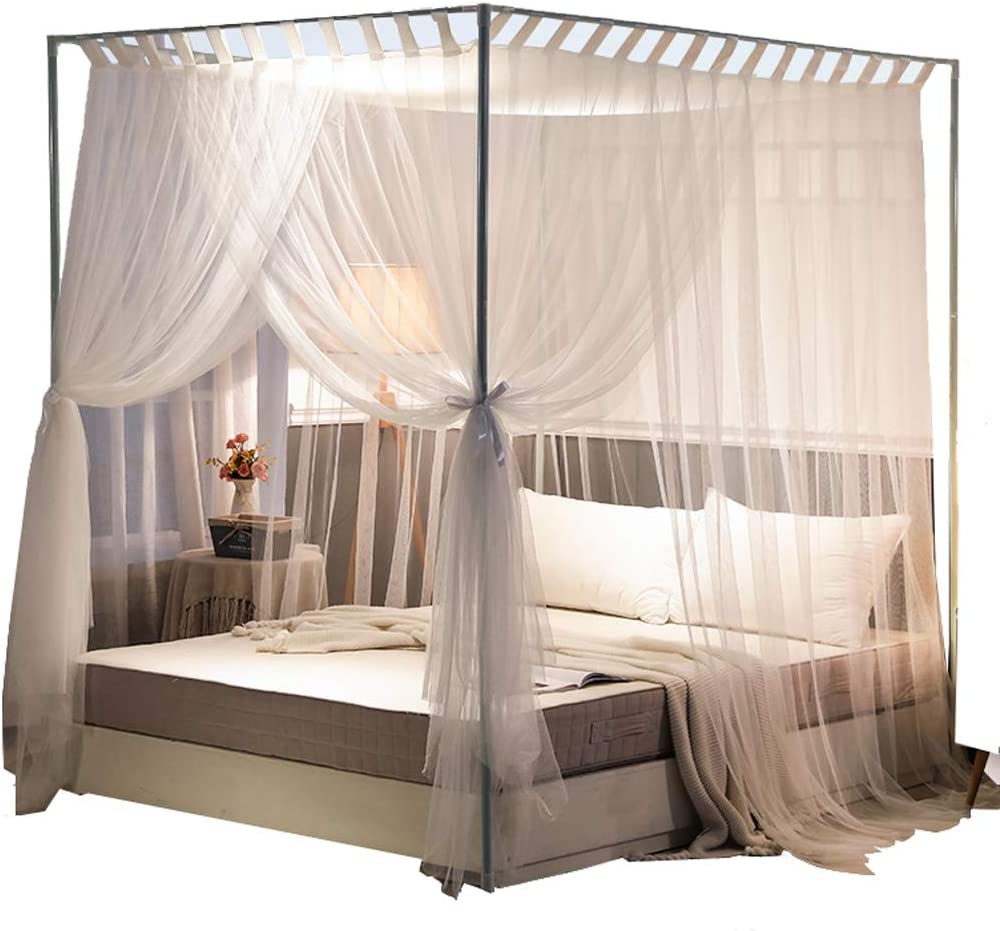 - Amazon.com: Mengersi Simple 4 Corners Post Curtain Bed Canopy Bed