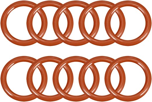 X AUTOHAUX 10pcs Silicone Rubber O-Ring VMQ Seal Gasket for Car 30mm x 4mm