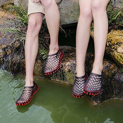 Nuotare Estate Colori Buco Fondo EU36 230 Scarpe Asciugatura 4 5 Veloce dimensioni Coppia PENGFEI Morbido Colore Spiaggia Rosso US6 Sandali UK4 Rosso xF7qnwdY