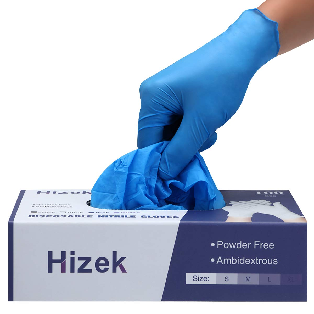 Latex Free-heavy duty Large Size Gloves 100pcs Nitrile 4 MIL Thick