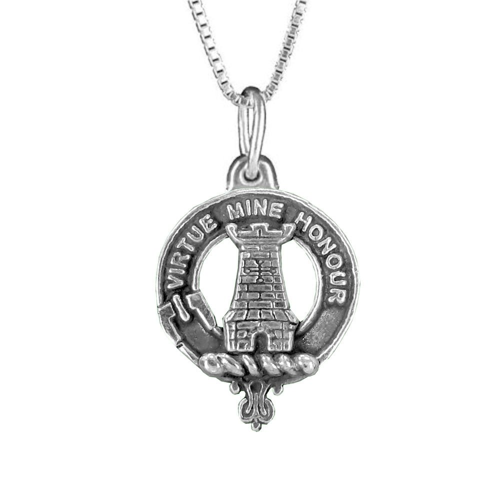 MacLean Clan Crest Scottish Pendant
