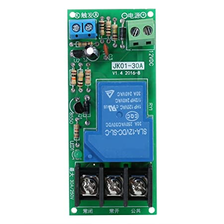 DC12V Delay Timer Switch Timing on//off Relay Module 0~60minutes 30A Load