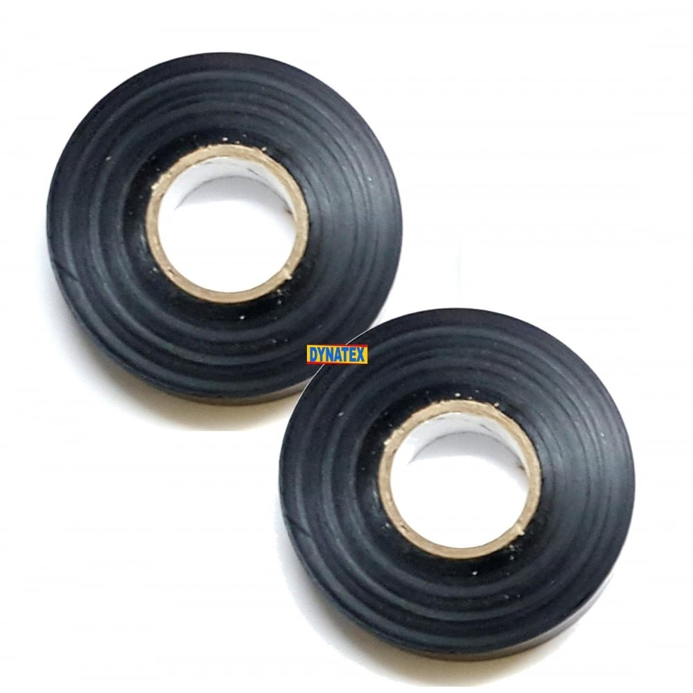 2 Insulation Tape Black PVC Insulating 19mm x 33M Flame Retardant EN 60454 DYNATEX