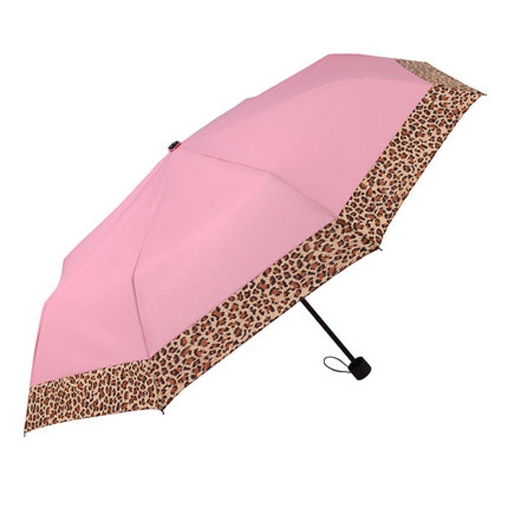 Lady Cool protección UV paraguas leopardo grano borde lluvia paraguas, Rose Pink: Amazon.es: Deportes y aire libre