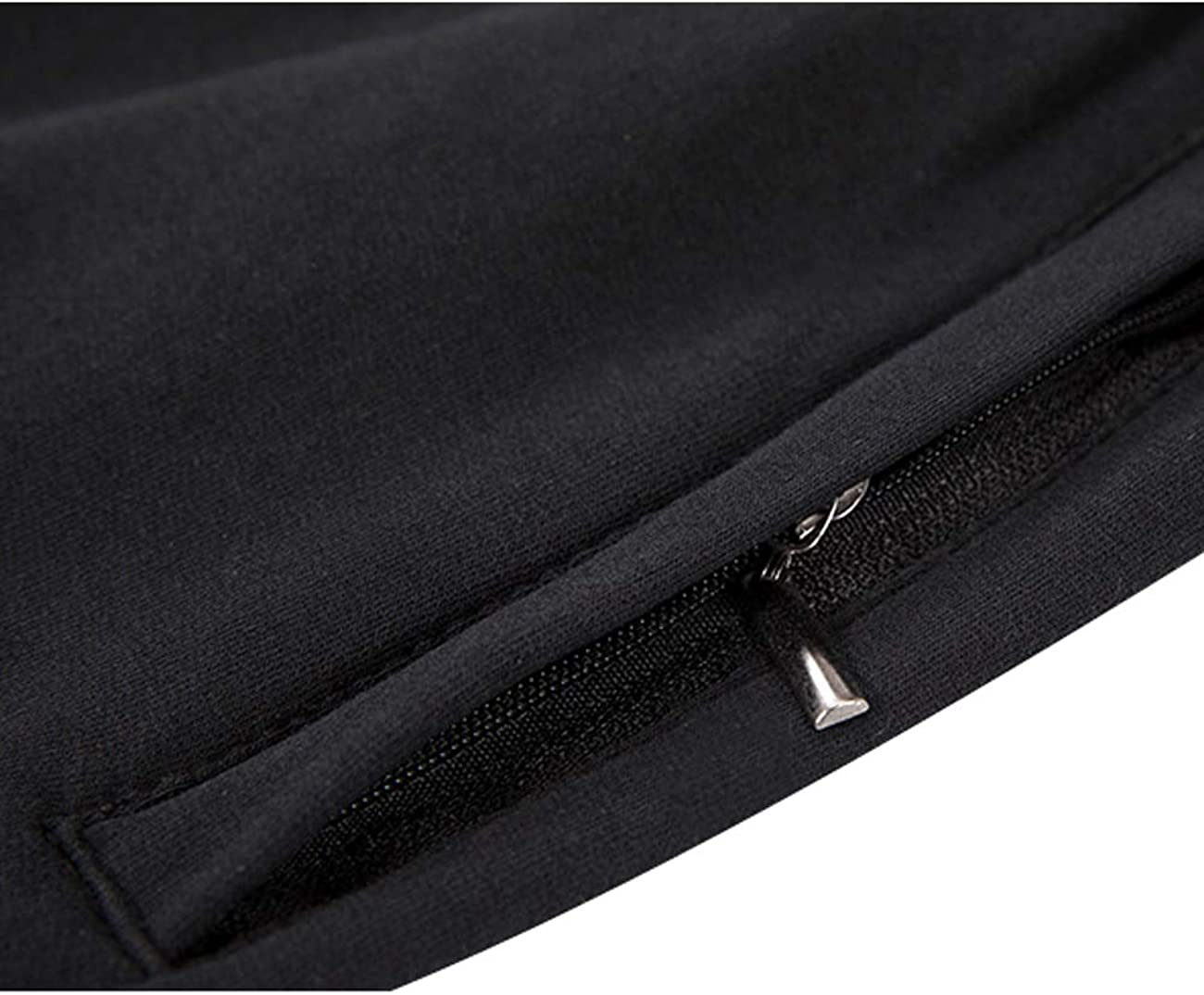 Zoulee Mens Casual Cotton Jogger Sweatpants Zipper Front Pants