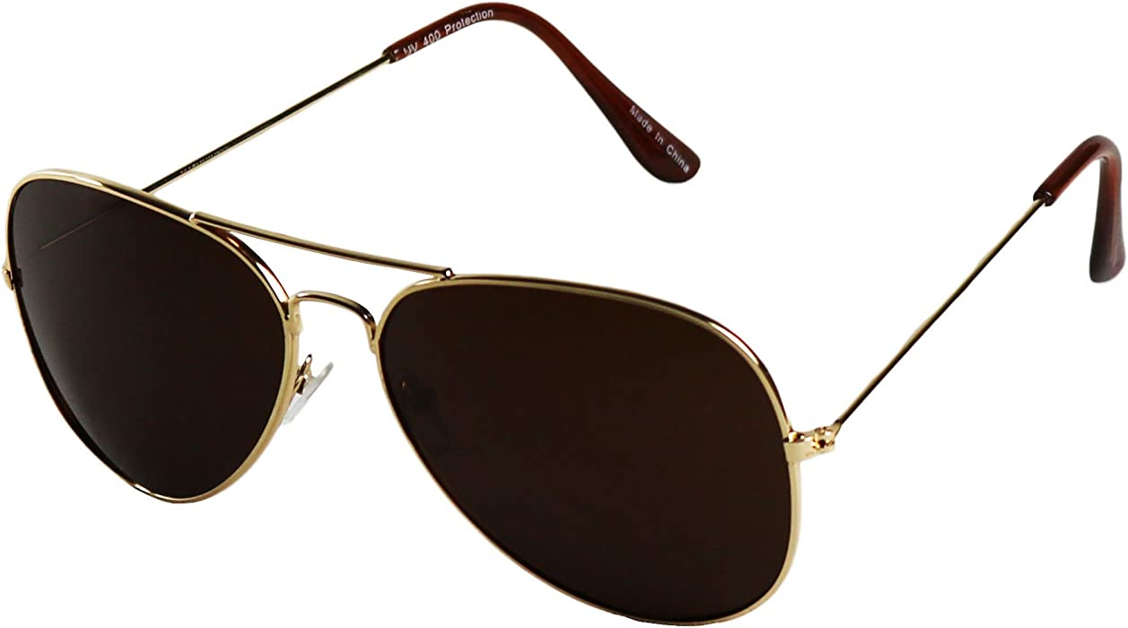 b62794eebf ShadyVEU - Extremely Super Dark Lens Blackout Metal Pilot Aviator Sunglasses  (2 Pairs of Gold