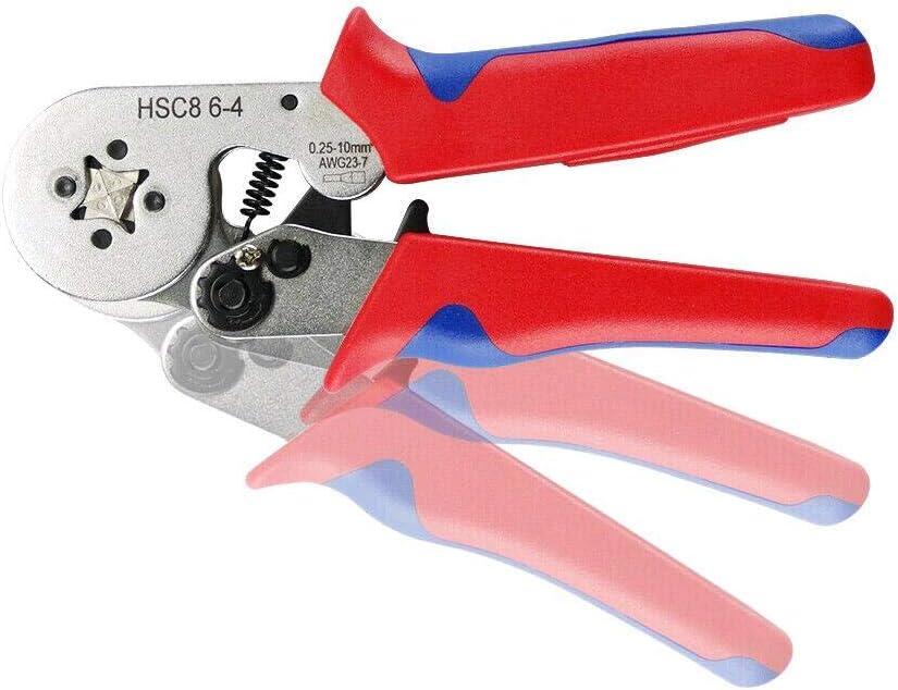 Crimpzange Aderendh/ülsen Set Selbsteinstellende Crimpzange mit 1200 st/ück Crimp Tool Kit 0,25-10mm/² Premium Aderendh/ülsen Zange