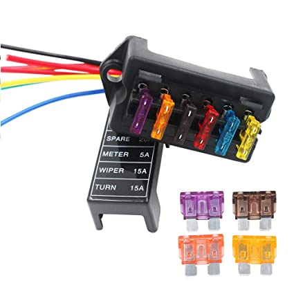 artgear 2-input 6-output car standard blade fuse holder (apply to 1
