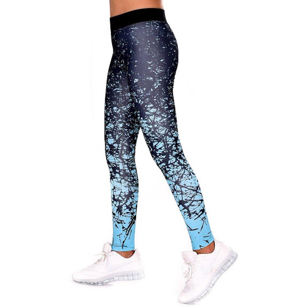bluee Black MNDesign Yoga Workout Leggings Running Sport Stretch Pants