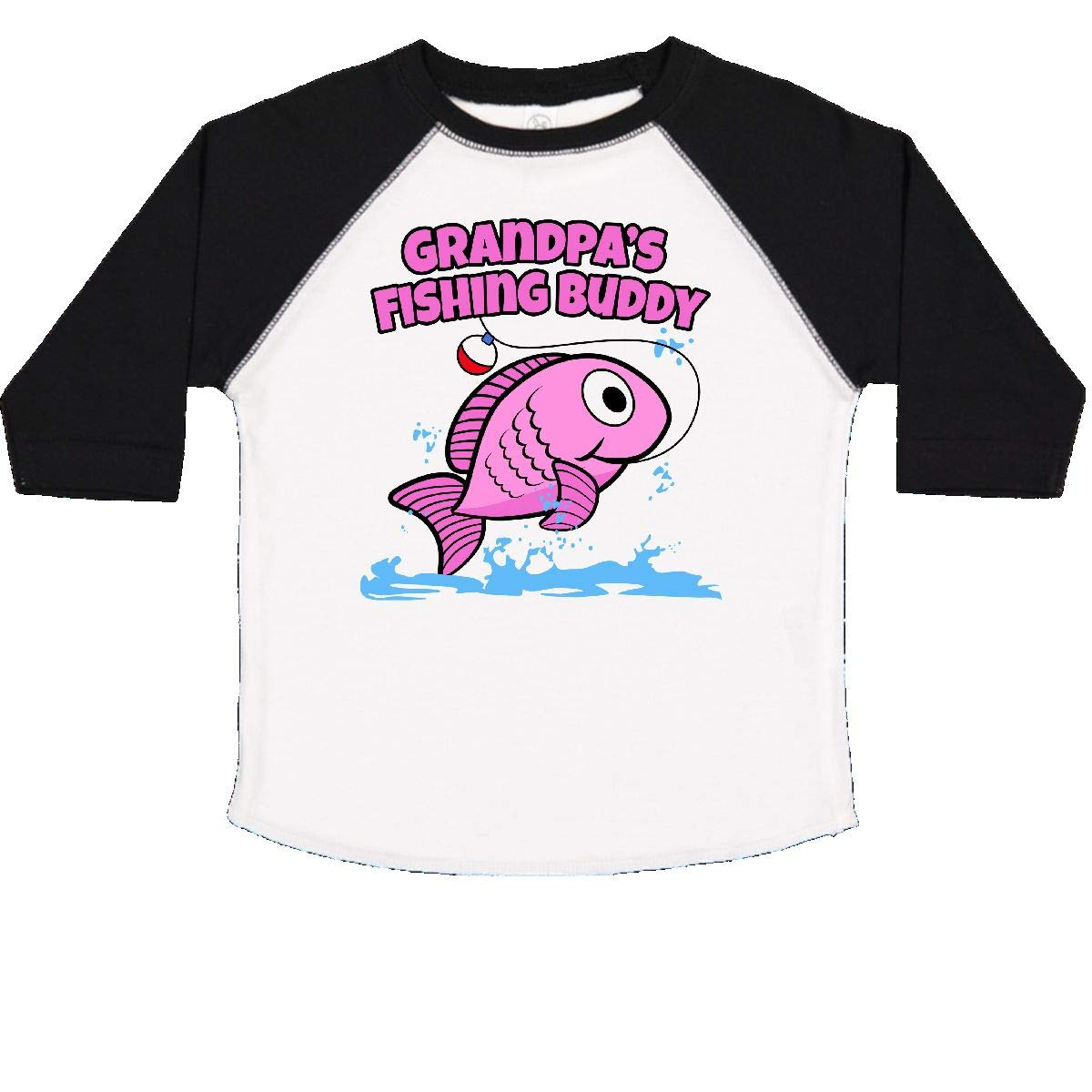 Pink Toddler T-Shirt inktastic Grandpas Fishing Buddy