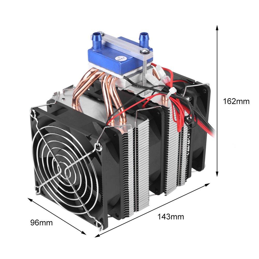 Hilitand DC 12V Refrigerador termoeléctrico de Agua de Refrigeración por Semiconductor del Sistema Peltier Refrigerador para Tanque de Peces (180W (para ...