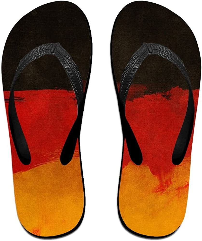 Unisex Adults Flip Flops Sandal Slippers Bathroom Flats Open Toed Slide Shoes Germany Flag