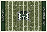 (Ship from USA) 8x11 Milliken Hawaii Rainbow Warriors NCAA Field Area Rug - Approx 7'8''x10'9'' /ITEM NO#E8FH4F85492681