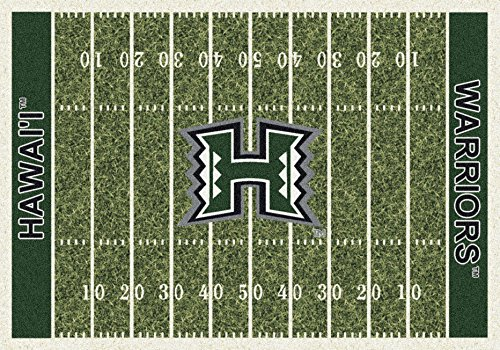 (Ship from USA) 5x8 Milliken Hawaii Rainbow Warriors NCAA Field Area Rug - Approx 5'4''x7'8'' /ITEM NO#E8FH4F85493784 by Mohenion