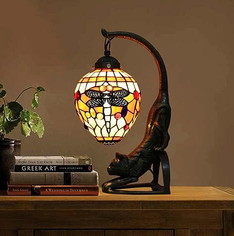 Lámpara de mesa estilo Tiffany, lámparas de mesa para cámara ...