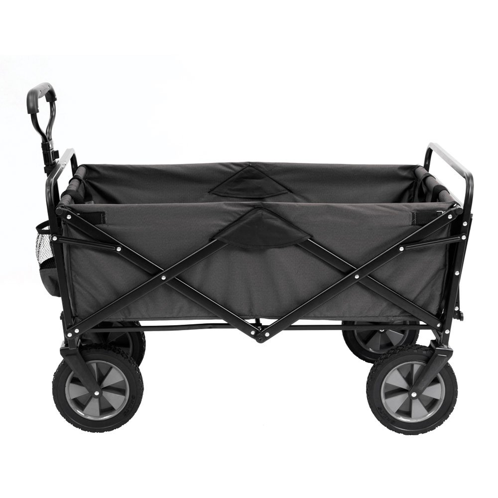 Mac Sports Collapsible Outdoor Utility Wagon with Folding Table and Drink Holders, Gray by Mac Sports (Image #2)
