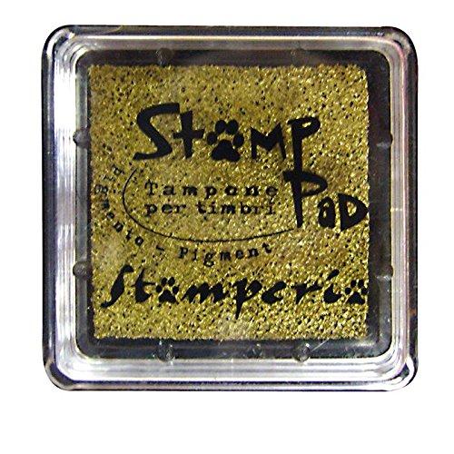 Cuscinetto inchiostrato 2.5x2.5 cm per timbri Oro - Stamperia WKP11P