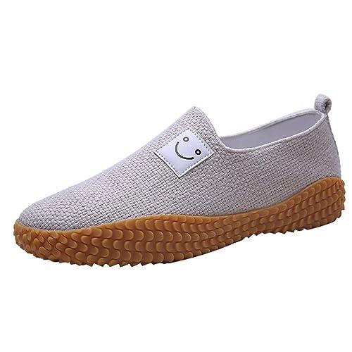 YWLINK Mocasines Hombre Lino Zapatos Casuales Antideslizante ...