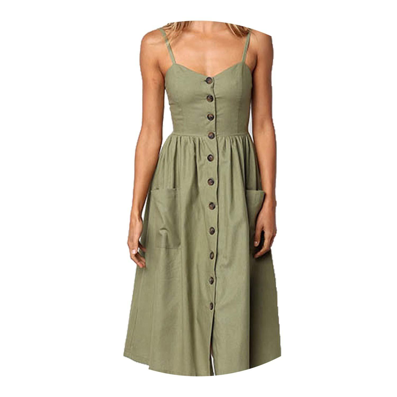 Striped Pocket Elegant Bohemian Beach Party Dresses Vestidos ...