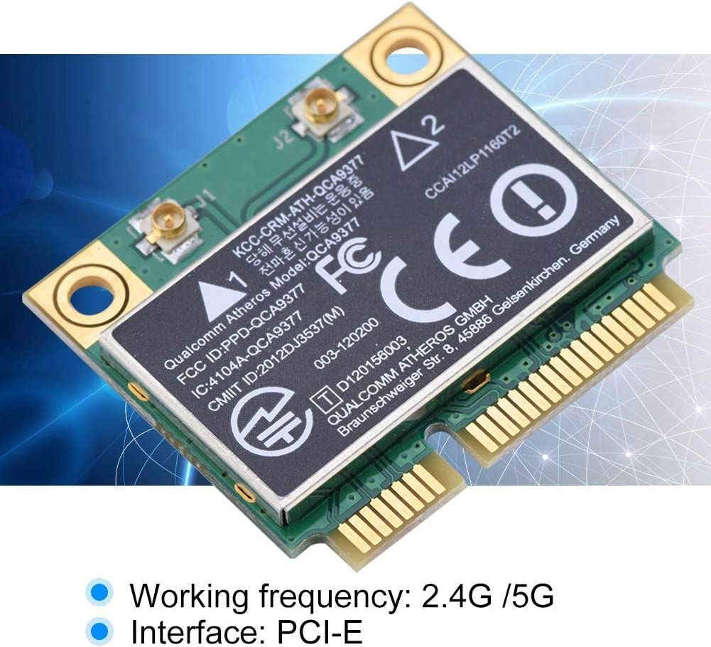 2.4G//5Ghz Dual-Band Bluetooth 4.1 433Mbps WiFi Mini PCI-E Wireless Card High Speed Network Adapter PCI Express Mini Card