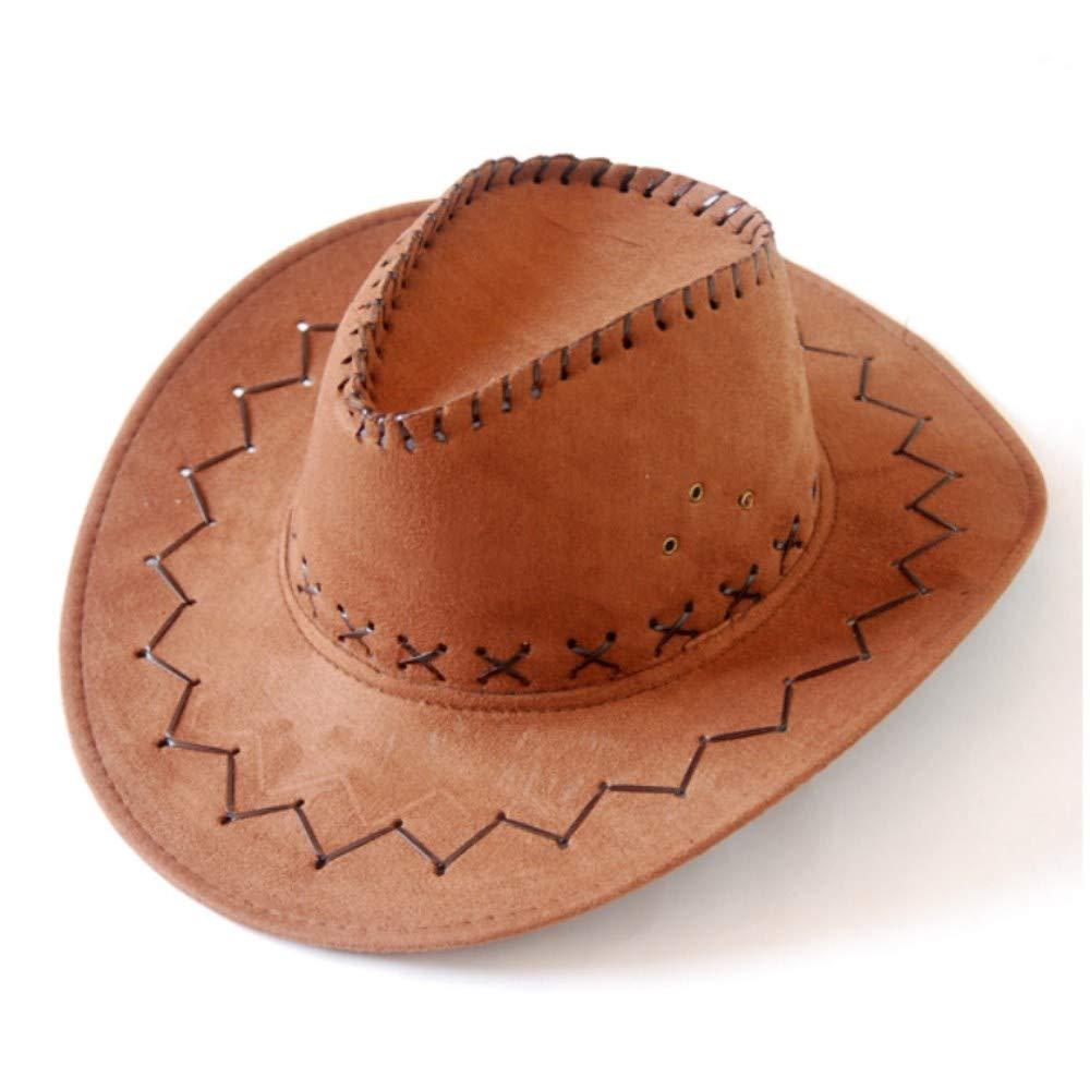 YAMEIJIA Hat-Lover Uomini Genuino Pelle Sagomabile Cappello da Cowboy Occidentale