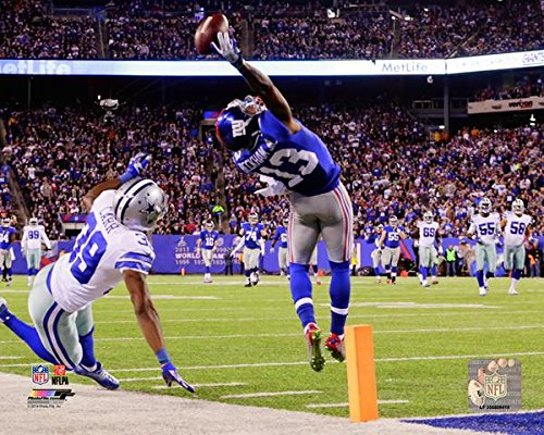 New York Giants Odell Beckham Jr. Makes The Catch of a Lifetime! 8x10 Photo. (Horizontal) mf - Giants 8x10 Picture