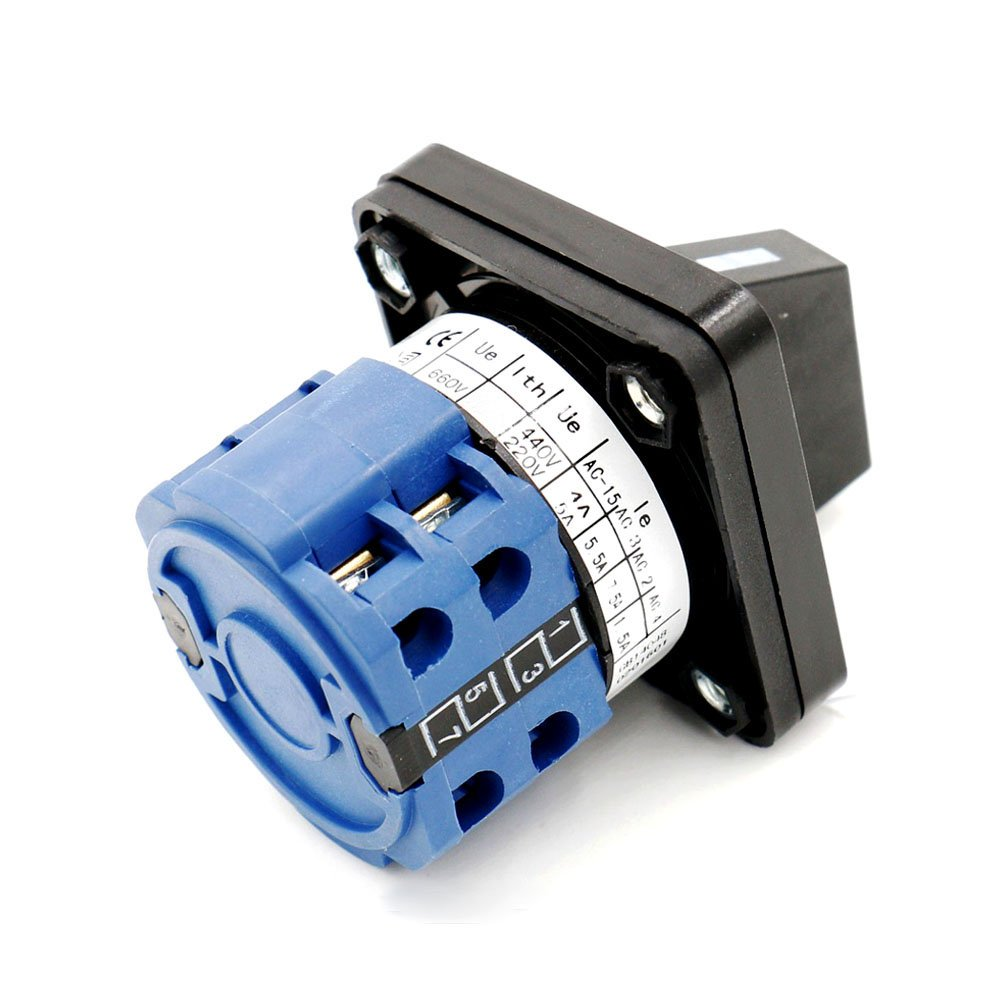 Baomain Rotary Universal Changeover Switch SZW26-20//D202.2 660V 20A 1-0-2 3 Positions 8 terminals Latching function