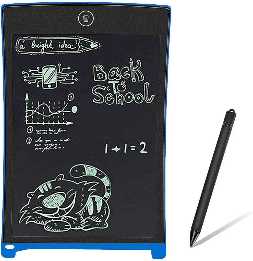 LCD Writing Tablet 8.5 Inches Electronic Drawing Notepad Doodle Board Digital Pad Gift for Kids Adults at Home,School and Office-Blue